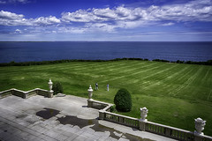 Lawn Party (Steve Mitchell Gallery) Tags: landscape landscapes backyard backyards lawn lawns ocean home homes lifestyle
