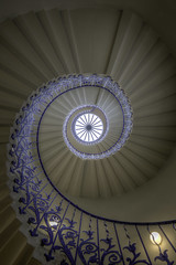 Tulip Staircase (Hemzah Ahmed) Tags: tulipstaircase tulip staircase spiral spirals spiralstaircase queenshouse london greenwich londonist timeout timeoutlondon londontown londonbylondoners londonarchitecture londonbuildings perspective perspectives blue design beautiful travel travelphotography indoor stairs steps purple colours flickr canon5dmarkiii canon5dmark3 colors windows day architecture art uk england curves lines circle round geometry geometric photography rotunda canon building upwards
