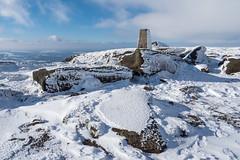 Higher Shelf Stones (Maria-H) Tags: trigpoint snow highershelfstones bleaklow glossop highpeak peakdistrict derbyshire uk pennines winter olympus omdem1markii panasonic 1235