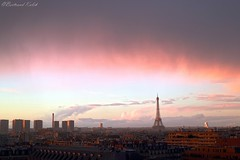 Beauté du soir (bertrand kulik) Tags: toureiffel sunset paris france coucherdesoleil nature
