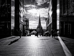 Step into the Light (Mac McCreery) Tags: pentaxk5iis stmartinschurch bullring birminghamuk monochrome blackandwhite