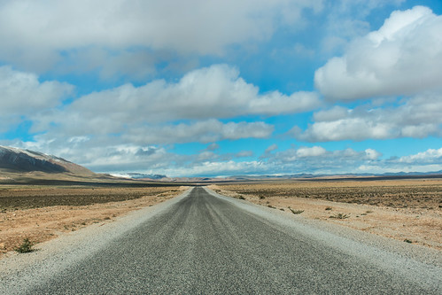 Crossing the Middle Atlas mountain range in Morocco.
