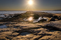 Tidepool bliss (Alan Charles) Tags: 2018 ct madison seascape lateautumn ocean rockyshore sea shore sunset