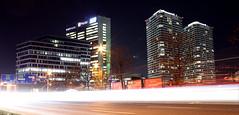 Tower 115 & Panorama City (vlado905) Tags: bratislava skyscraper slovakia night longexposure building