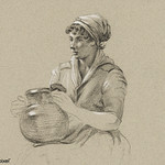 Sitting girl with a big jug (1800 - 1809) by Jean Bernard (1775-1883). Original from The Rijksmuseum. Digitally enhanced by rawpixel. thumbnail