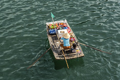 Floating store (mystero233) Tags: store shop float boat vietnam halongbay halong bay unesco water sea women child kid travel tradition outdoor people