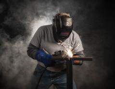 Welding (jim.righeimer) Tags: katebackdrop wescott d850 85mm portrait chicago flashpoint nikon worker welding