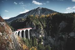 Landwasserviadukt, Switzerland (Sunny Herzinger) Tags: train autumn november bridge fall schweiz mountains schmitten graubünden switzerland ch