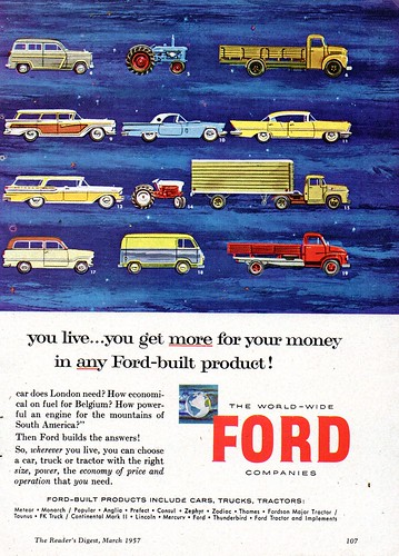 1957 World Wide Ford Companies Cars Trucks Tractors Page 2