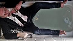 bathtime (marcostetter) Tags: wetlook wet wetclothes wetclothing fullyclothed wetshirt bathtub
