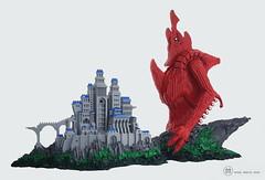 The Sacred Fortress (mihaimariusmihu) Tags: mihaimariusmihu lego castle creature diorama giant fortress