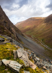 Honister Pass (Rich Walker Photography) Tags: buttermere honister lakedistrict cumbria canon england efs1585mmisusm eos eos80d cloud clouds sky fell mountain mine rock road valley hill landscape landscapes landscapephotography sunlight sun