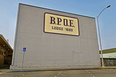 BPOE, Crescent City, CA (Robby Virus) Tags: crescentcity california ca northcoast bpoe elks benevolent protective order lodge painted sign signage fraternal organization 1689