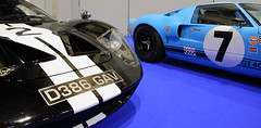 Ford GTs (JoRoSm) Tags: lancaster insurance classic motor show nec birmingham car cars automobile auto nationalexhibitioncentre carshow 2018 sports performance classics yesteryear polished rides wheels canon 500d tamron ford gt american muscle racecar race racing motorsport stripe decals vent wheel detail abstract 7 2 eos transport national exhibition centre indoor