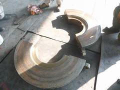 Resize of P1360904 (OpalStream) Tags: rudder marine vessel repair works overhauling workshop measurements filler gauge dirt