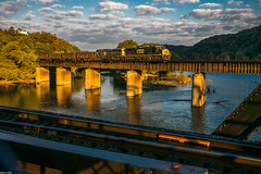 Sunrise at Harpers Ferry (i nikon) Tags: csx harpers ferry wv potomac river