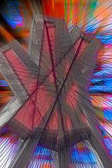 A Bridge gone far (beelzebub2011) Tags: canada britishcolumbia vancouver multipleexposure icm intentionalcameramovement abstract bridge