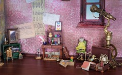 The Time Traveling Relic Hunters #2 (Arthoniel) Tags: kuplokopp bremen dearmine doll bjd balljointeddoll pinkvetch voador nomyens faceup ooak roombox diorama rement collection pig flying fox fennec bean lincoln tiny miniature anthro