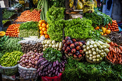 Vegetable market in Sri Lanka