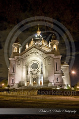 Nighttime at the Cathedral (David A. Parker Photography) Tags: stpaul saintpaul minnesota mntwincitiescathedral cathedralofstpaul night longexposure