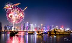 QND 2018 - Firework (Mohamed Rimzan) Tags: qatarliving qatar fireworks qatarism qatarnationalday canon nationalday
