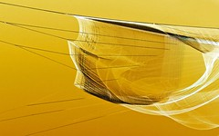 Floating through the sky #10 (losy) Tags: net netz floating sky yellow abstract echelman losyphotography
