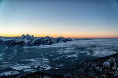 Sonneuntergang am Kolferjoch (stefangruber82) Tags: alps alpen tirol tyrol sunset winter sonnenuntergang fog nebel valley tal