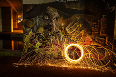 It's Witchcraft! (stopdead2012) Tags: winnersh flyover loddon graffiti wirewool sparks night witch