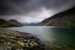 Low clouds (Rico the noob) Tags: dof rock d850 lakedistrict landscape 20mm water mountains outdoor lake stones clouds longexposure beach uk coast published travel sky rocks nature 20mmf18 2018 mountain