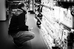 I Wish You A Lot Of Choices In 2019 (Alfred Grupstra) Tags: people blackandwhite store oneperson men women lifestyles adult retail shopping indoors standing consumerism females citylife holding casualclothing males