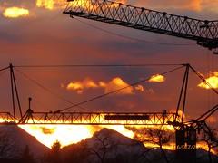 P1130994 (Traud) Tags: kräne crans germany deutschland bavaria bayern himmel wolken clouds sunset sönnenuntergang