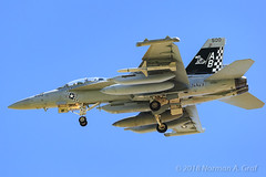 """Boeing EA-18G Growler of Electronic Attack Squadron 137 (VAQ-137) """"Rooks"""" from NAS Whidbey Island (Norman Graf) Tags: fa18 agm88harm aircraft airplane analq99 aim120c ea18g electronicwarfare boeing nasfallon usn agm 168266 missile vaq137 aim120 cagbird aim navalaviation ordnance rooks ab500 amraam asm advancedmediumrangeairtoairmissile airinterceptmissile airtogroundmissile airtosurfacemissile attack carrierairgroup ew electronicattacksquadron137 f18 f18g fighter growler highspeedantiradiationmissile hornet jet knfl naswhidbeyisland nfl plane tacjammer tacticaljammingsystem unitedstatesnavy"""