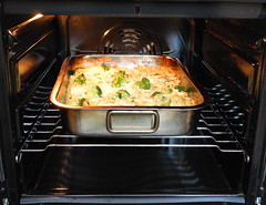 Baked pasta (Yirka51) Tags: broccoli dishes meal browning baking food oven pasta pan lunch cheese grilling grill egg dinner