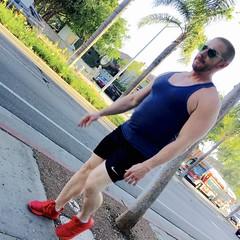 IMG_6424 (danimaniacs) Tags: man guy sexy hot street beard scruff tanktop mansolo shorts