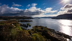 A room with a view (Phil-Gregory) Tags: isleofskye sky skye skyebridge gavinmaxwell water waterscape clouds cloudscape nikon d7200 tokina1120mmatx tokina 1120mmproatx11 1120mm 1120mmproatx 1120prodx wideangle ultrawide blue sun bridge scenicsnotjustlandscapes scotland highlands