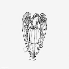 Vintage angel illustration (Free Public Domain Illustrations by rawpixel) Tags: angel antique archangel art arts artwork believe black blackandwhite cc0 character creativecommons0 decor decorative drawing element engraved engraving feather fineart fly flying god graphic graphite historic historical history illustration ink isolatedonwhite name painting pencil publicdomain retro saint sketch sketching victorian vintage whitebackground wings