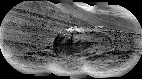 Telescopic View of Hills in Gale Crater, variant
