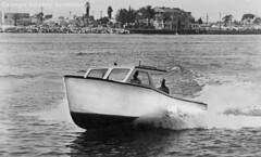 Speedboat built by York Boat Builders, Newport Beach (Orange County Archives) Tags: orangecountyarchives orangecounty orangecountyhistory history historical california southerncalifornia newportbeach newportbay newportharbor boats ocean