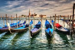 Gondolas - Venice - Italy ( Gabriel Franceschi®) Tags: gabriel franceschi nikon d300s sigma 1750mm f28 hsm venice gondola hdr high dynamic range