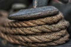 Old Rope #2 (Steve.T.) Tags: rope oldrope textures texture textured fibre nikon d7200 50mmlens 50mm detail closeup bokeh dof