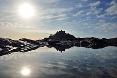 JAN_1910_00005 (Roy Curtis, Cornwall) Tags: uk cornwall marazion stmichaelsmount silhouette reflection rockpool sunnyday seaside
