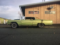 Mean Green Machine (misterbigidea) Tags: beauty urban scenic morning building decay tired classic auto car street parked dodge green hotwheels rusty crusty buick cruiser