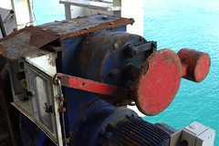 Lifeboat winch (Victor Engmark) Tags: bluebridgeferry sea outdoor newzealand engine winch ferry ship