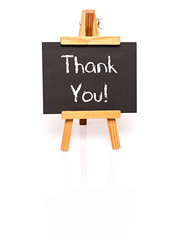 Thank You. Blackboard with text and easel. (nithiyabhaskar) Tags: thankyou thank thanks thankful commerce business board blackboard easel white chalkboard chalk black stand wooden whitebackground shadow reflection school sign education wood frame learn illustration space study class notice classroom lesson grade educate student teach copy message success letter flip university knowledge college training clean text communication copytext ghana