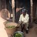Togo - Bassar woman preparing her leaves