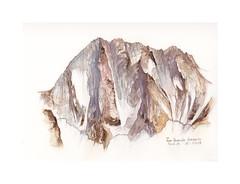 Les Grandes Jorasses (Yvan LEMEUR) Tags: aquarelle watercolour acuarela peinture montagne grandesjorasses hautemontagne alpes alpinisme chamonix hautesavoie france massifdumontblanc