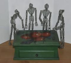 "Apple Box (❅We Got 13"" Of SNOW!!!❅) Tags: box boxes amazonaleveanneandadam gift wooden painted bymarlene apples drawer inmyartroom upstairs"