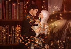 Love Story (Felice Nightfire) Tags: love portrait fish books surprise daisy