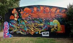Graffiti Prades (thierry llansades) Tags: prades graf graffs graffiti graffitis sprray aerosol spray painting bombing mur wall conflent hautconflent cerdagne roussillon montagne catalogne cataluna catalunya perpignan perpigna ria