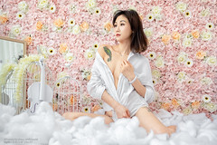 Moon (Francis.Ho) Tags: moon xt2 fujifilm girl woman female femme lady portrait people beauty pretty lips eyes hair face chinese model elegant glamour young sensuality fashion naturallight cute goddess asian sexy barefeet shirt body